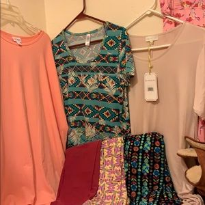 Lularoe Simply Southern Bundle Irma Tunic leggings